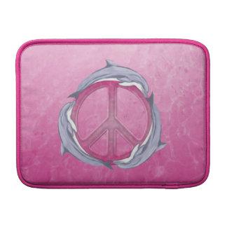 Rosa de la paz del delfín funda  MacBook