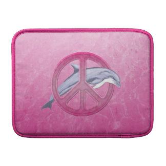 Rosa de la paz del delfín fundas MacBook