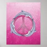 Rosa de la paz del delfín impresiones
