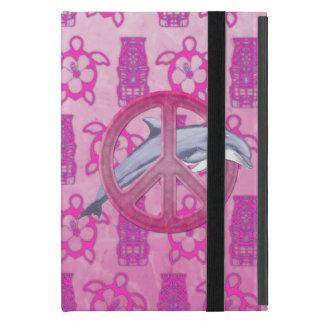 Rosa de la paz del delfín iPad mini cobertura
