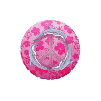 Rosa de la paz del delfín frascos de dulces