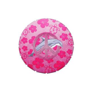 Rosa de la paz del delfín jarrones de dulces