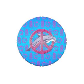 Rosa de la paz del delfín jarrones de caramelos