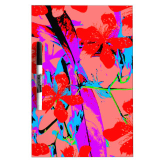 rosa de la pintura de la flor pizarras blancas de calidad