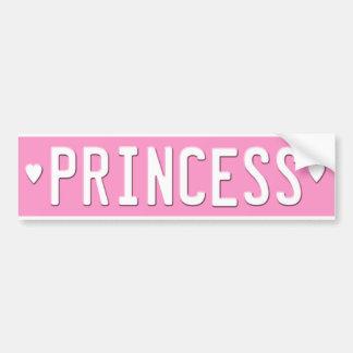 Rosa de la placa de la princesa pegatina para el p pegatina para auto