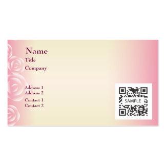 Rosa de la plantilla de la tarjeta de visita subió