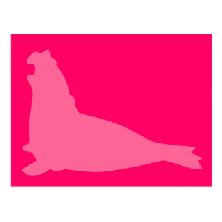 Rosa de la postal del sello de elefante