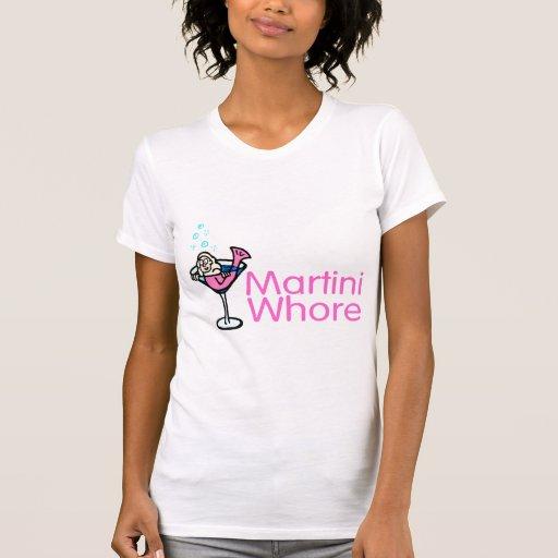 Rosa de la puta de Martini Tee Shirts
