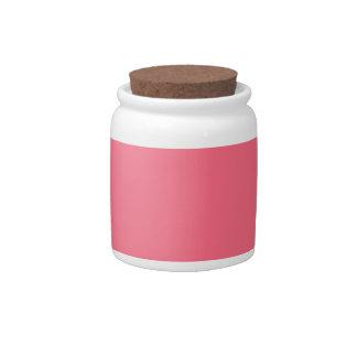 Rosa de la sandía jarra para caramelo