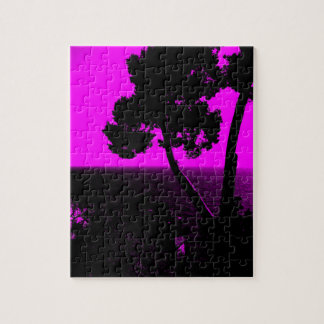 Rosa de la silueta 01 puzzle con fotos