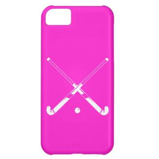 rosa de la silueta del hockey hierba del iPhone 5