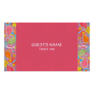 Rosa de la tarjeta del lugar del boda de Ganesh Tarjetas De Visita