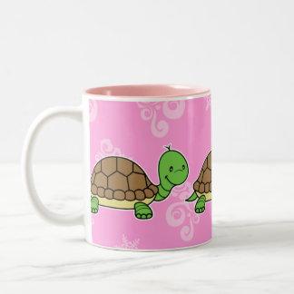 Rosa de la taza de la tortuga