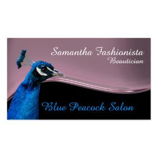 Rosa de la terapia de la belleza del pavo real tarjetas de visita