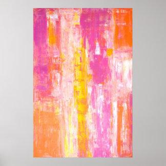 """""""Rosa de la tierra del caramelo"""" y arte abstracto Póster"""