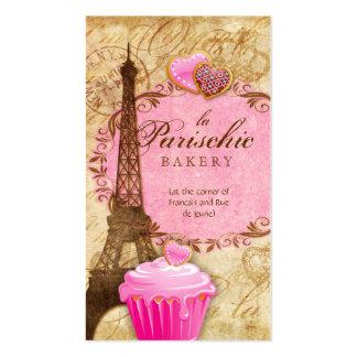 Rosa de la torre Eiffel de París de la tarjeta de Tarjetas De Visita