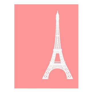 Rosa de la torre Eiffel Tarjetas Postales