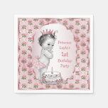 Rosa de la torta de cumpleaños de princesa Roses d Servilleta De Papel