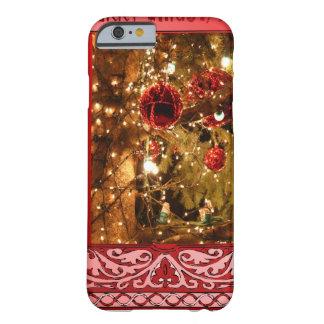 Rosa de las chucherías del navidad funda de iPhone 6 barely there