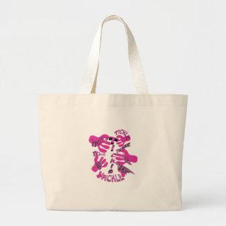 rosa de las cosquillas de las cosquillas bolsa tela grande