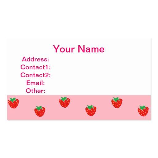 Rosa de las fresas tarjetas de visita