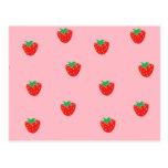 Rosa de las fresas tarjetas postales