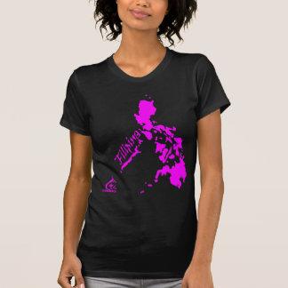 Rosa de las islas filipinas de la filipina camiseta