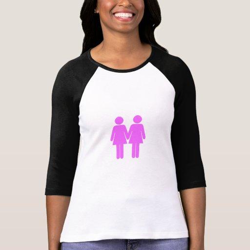 Rosa de las mujeres del orgullo gay playeras