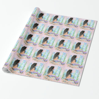 Rosa de little mermaid papel de regalo