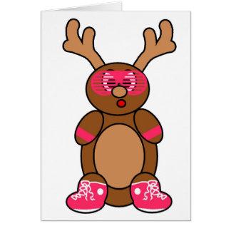 rosa de los ciervos de la pandilla tarjeta de felicitación