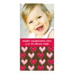 Rosa de los corazones y el día de San Valentín Tarjetas Fotograficas Personalizadas