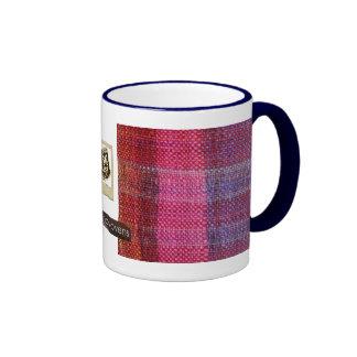 rosa de los handwovens del milímetro tazas de café