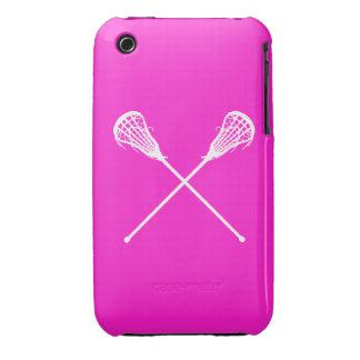 rosa de los palillos de LaCrosse del iPhone 3 Case-Mate iPhone 3 Cárcasas