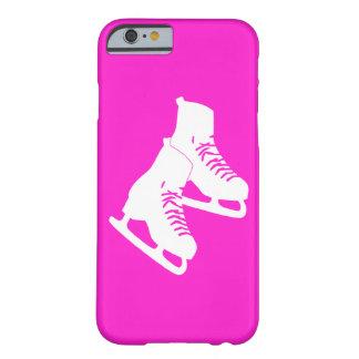 rosa de los patines de hielo del caso del iPhone 6 Funda De iPhone 6 Barely There