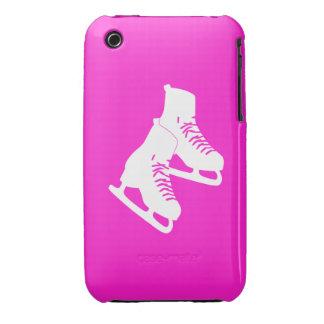 rosa de los patines de hielo del iPhone 3 iPhone 3 Protectores
