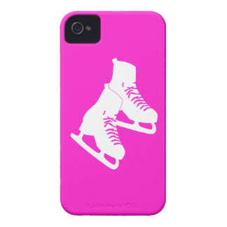 rosa de los patines de hielo del iPhone 4 iPhone 4 Case-Mate Cárcasa