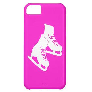 rosa de los patines de hielo del iPhone 5 Funda Para iPhone 5C