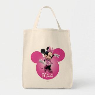Rosa de Minnie Mouse Bolsa Tela Para La Compra