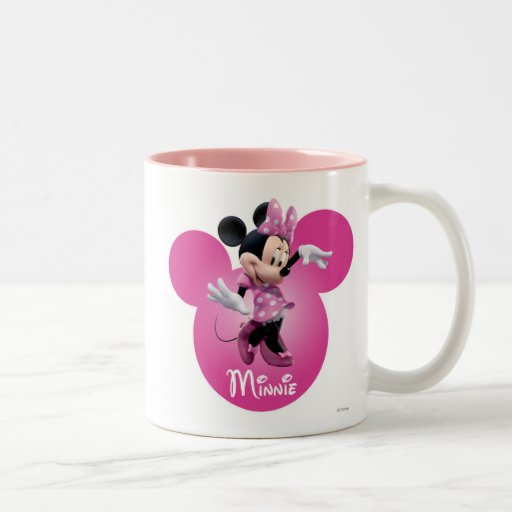 Rosa de Minnie Mouse Taza De Café