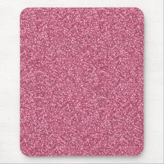 Rosa de moda de moda femenino lindo del chicle mouse pads