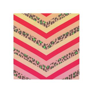Rosa de moda del guepardo e impresión del modelo impresiones en madera