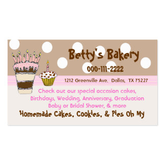 Rosa de moda y tarjeta de visita de la panadería d