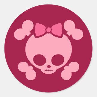 Rosa de Molly Etiquetas Redondas