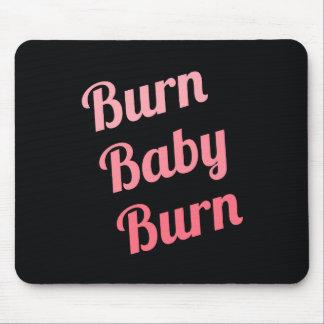 Rosa de motivación del negro del bebé de la alfombrillas de ratón
