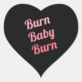 Rosa de motivación del negro del bebé de la pegatina en forma de corazón
