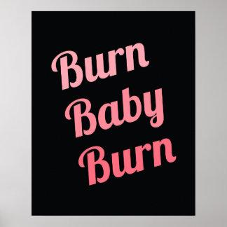 Rosa de motivación del negro del bebé de la póster