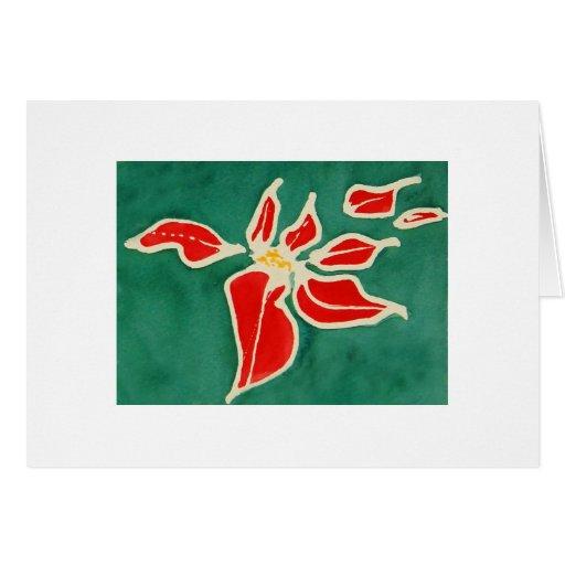 Rosa de navidad tarjeta