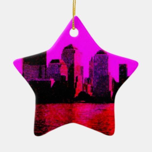 rosa de Nueva York Ornamentos De Reyes Magos
