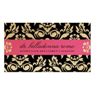 Rosa de oro del damasco de 311 belladonas tarjetas de visita