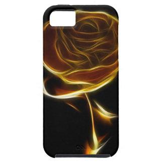 Rosa de oro diseñado con software del vector iPhone 5 coberturas
